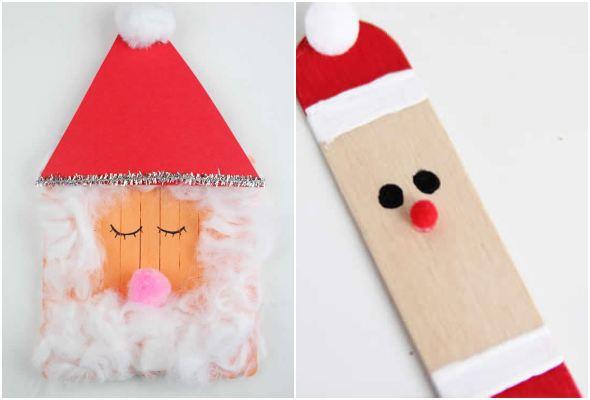 12 ideias de Papai Noel com palitos de picolé