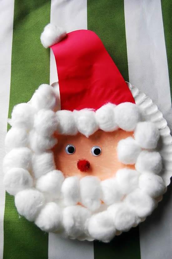 Papai Noel para fazer com crianças com reciclagem