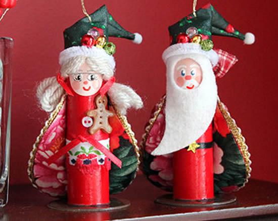 Lindos artigos com reciclagem para Natal