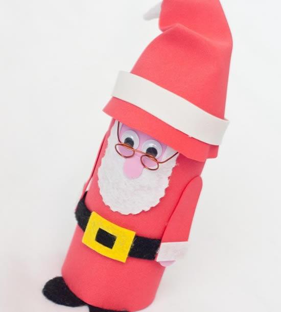 Papai Noel com rolo de papel higiênico