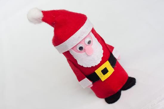 Papai Noel fofinho com reciclagem