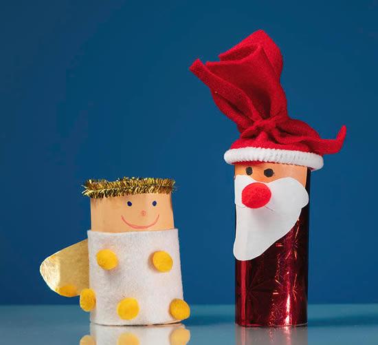 Lindo Papai Noel com reciclagem