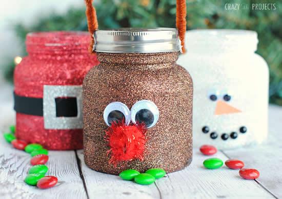 Potes decorados para Natal