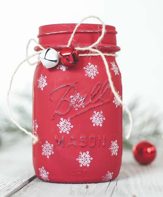 Lindos potes decorados de Natal