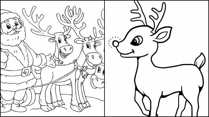 10 Desenhos De Rena De Natal Para Colorir Dicas Praticas