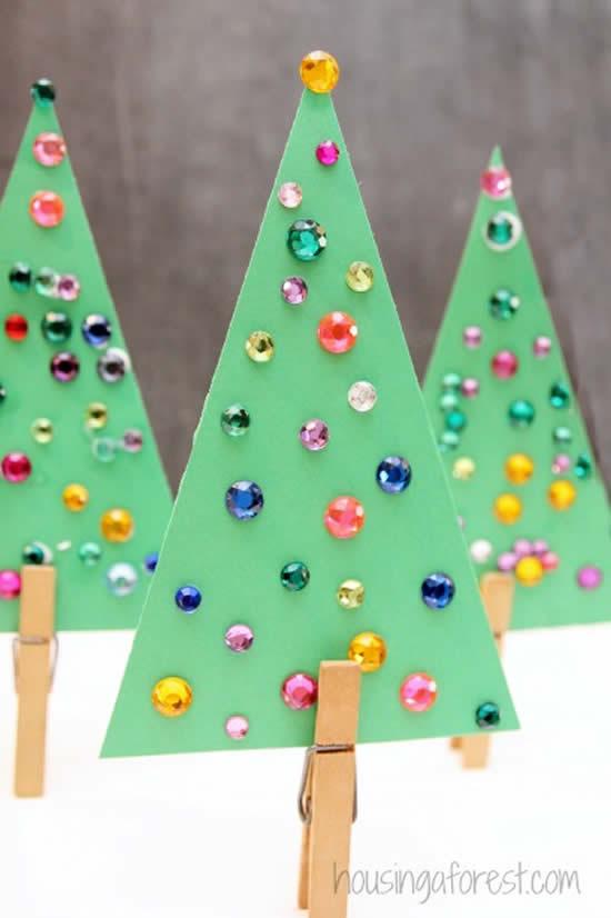 Lindas ideias de Árvores de Natal de papel