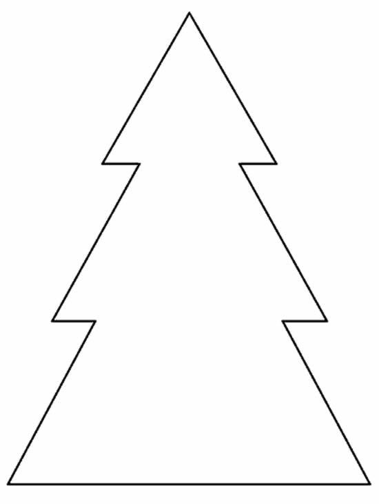 Molde para Árvore de Natal de papel