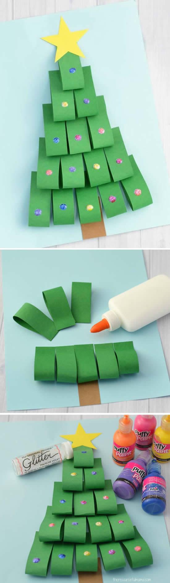 Ideias para fazer lindas Árvores de Natal de papel