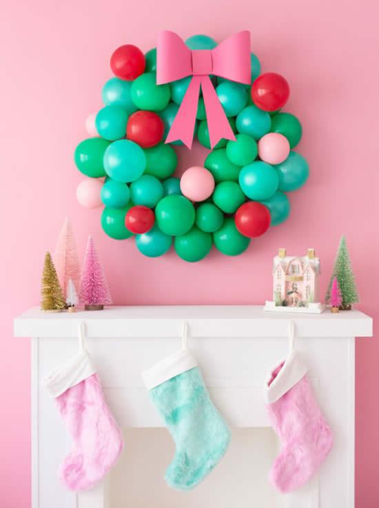 Guirlanda de Natal com balões
