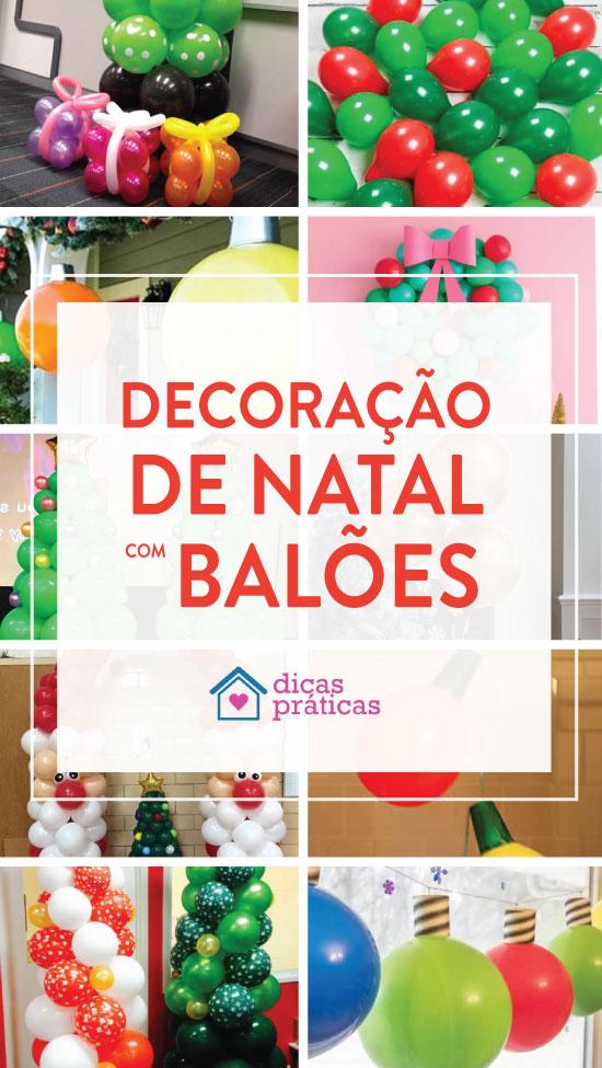 Decoração para festa de Natal com balões