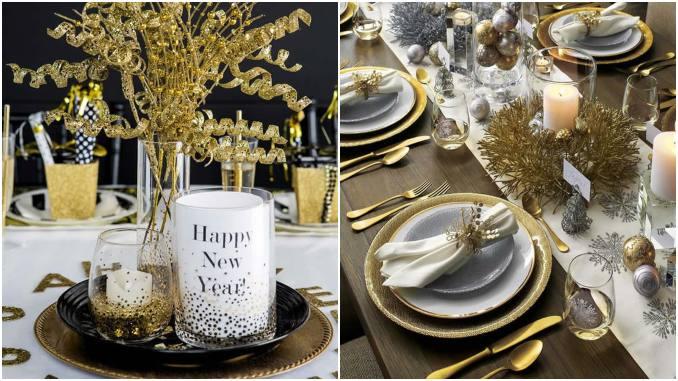 Ideias de decoração para mesa de ano novo