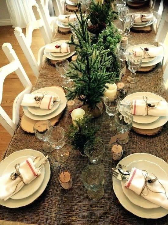 Mesa decorada e linda para o Natal
