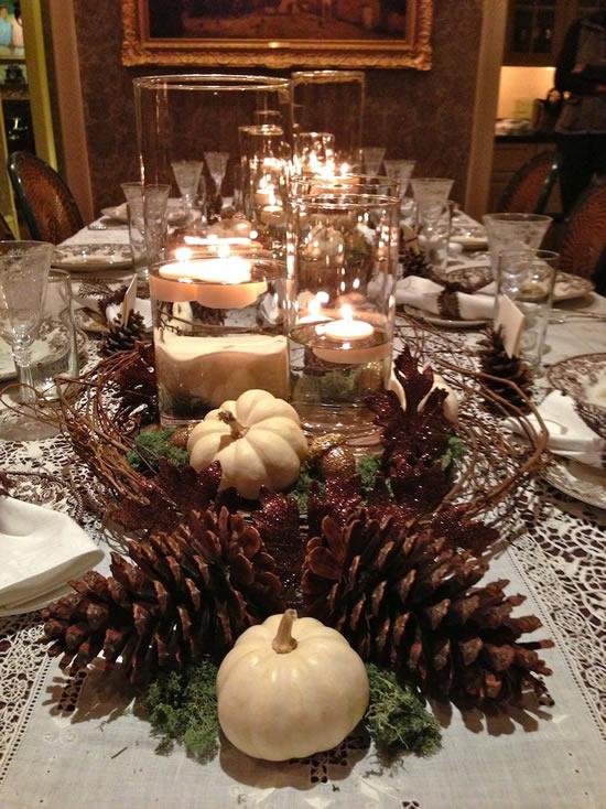 Decoração para mesa natalina