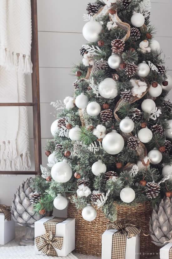 Decoração linda para uma Árvore de Natal