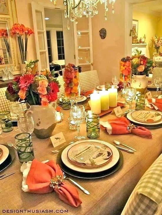 Linda decoração de Natal para a mesa