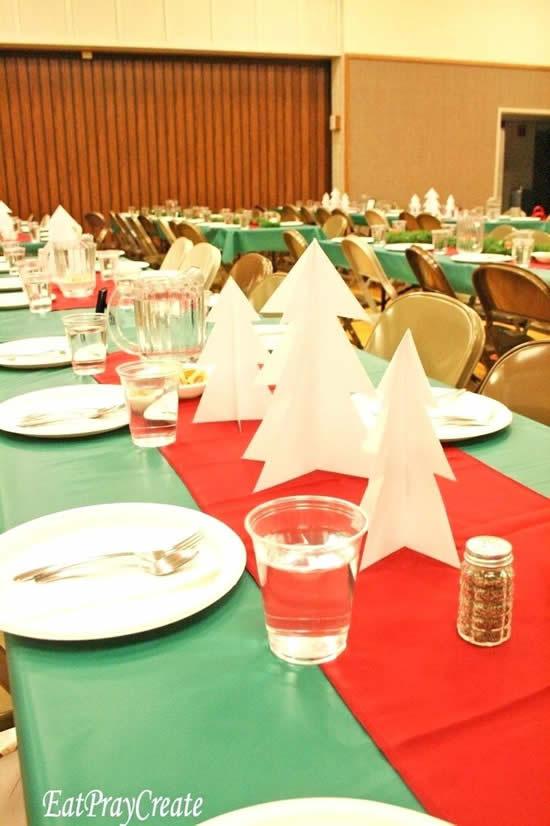 Enfeites para mesa de ceia de Natal