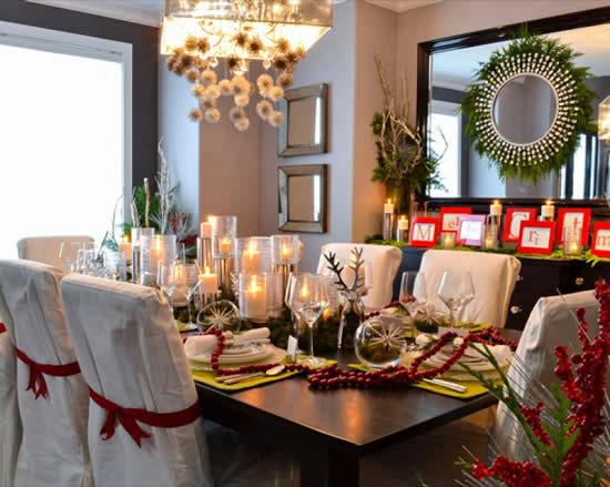 Ideias para decoração de mesa de Natal