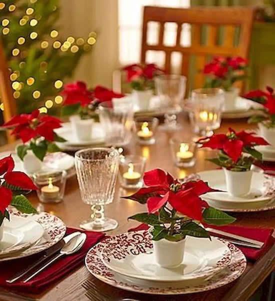 Enfeites para decorar mesa de Natal