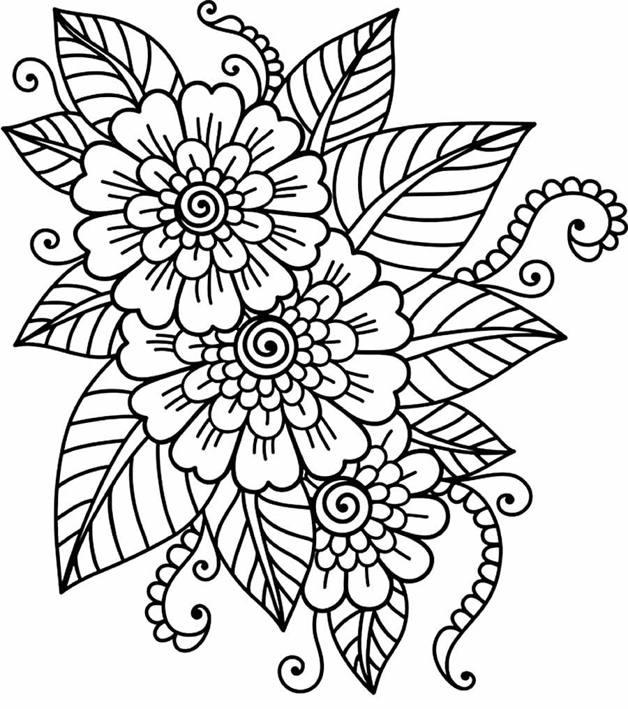 Lindas flores para colorir