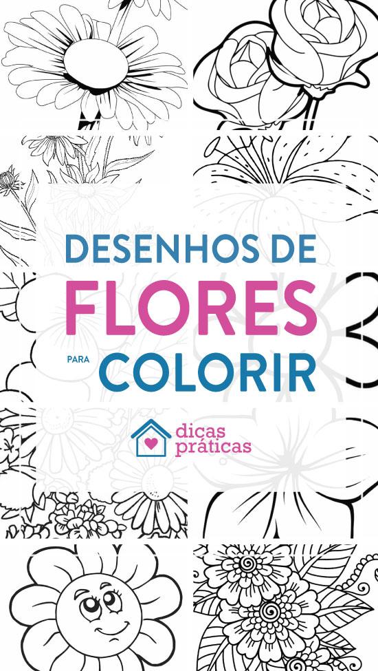 Desenhos De Flores Para Imprimir E Colorir Dicas Praticas