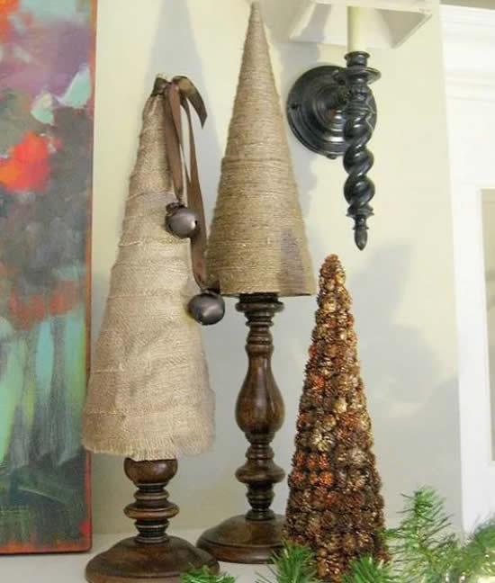 Árvore de Natal com barbante