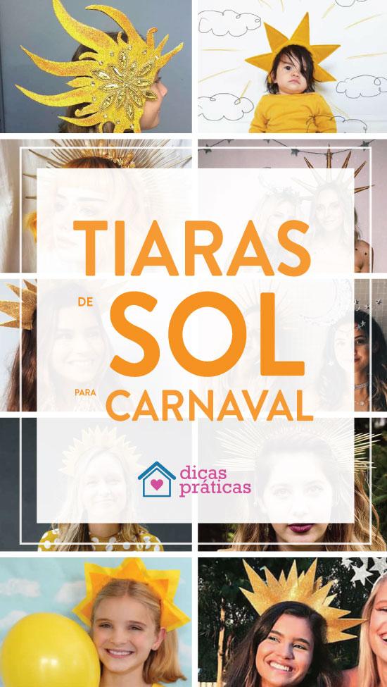 Tiara de sol para Carnaval