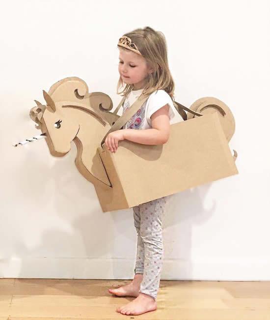 Ideias para criar fantasias com papelão