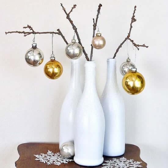 Garrafas decoradas para Natal