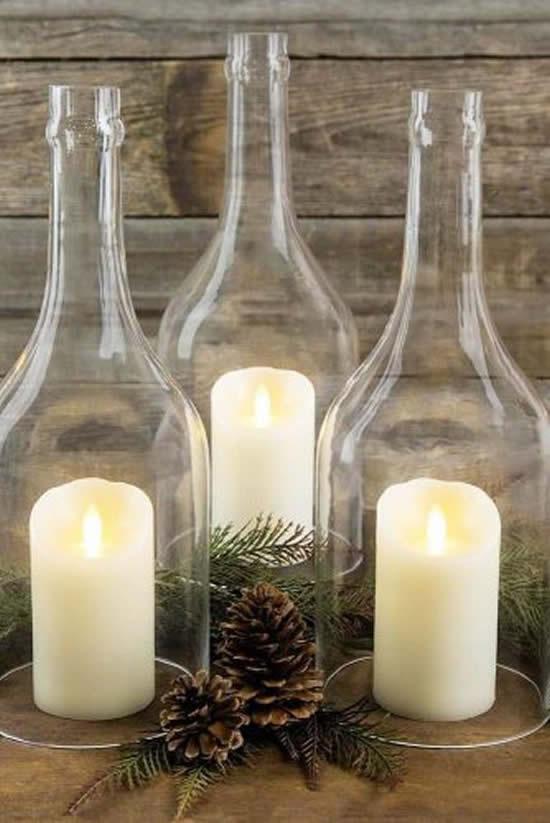 Lindos enfeites com garrafas para Natal