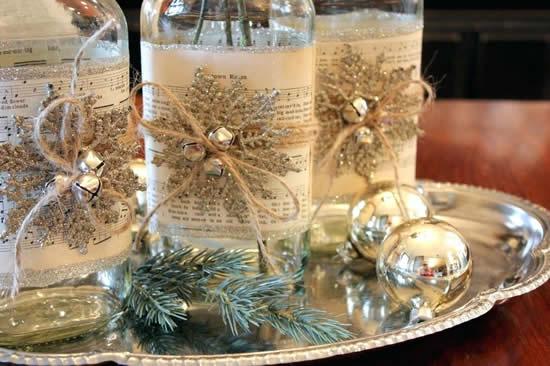 Enfeites com garrafas para Natal