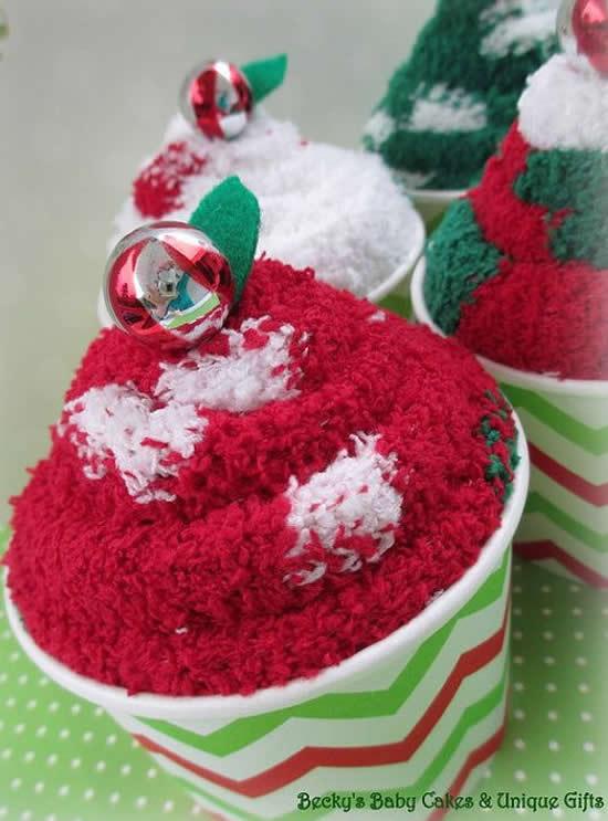 Lembrancinhas com toalhinhas para o Natal