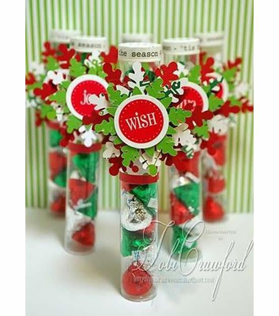 Lembrancinhas com tubetes para o Natal
