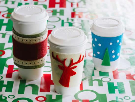 Lembrancinhas com copos para o Natal