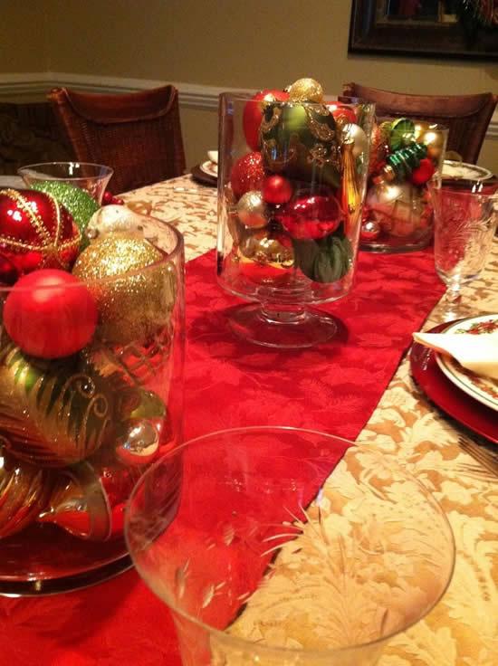 Decoração para Natal com lindos centros de mesa