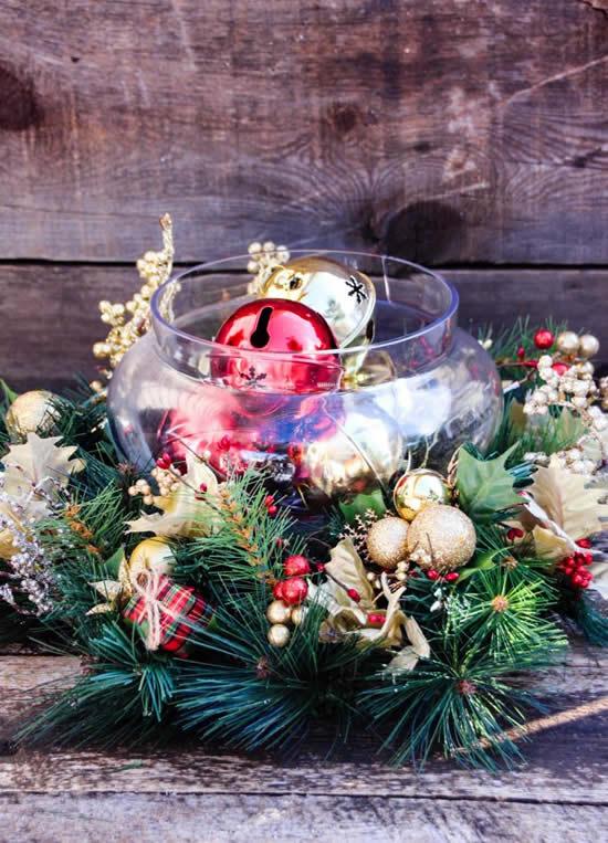 Lindo centro de mesa para Natal