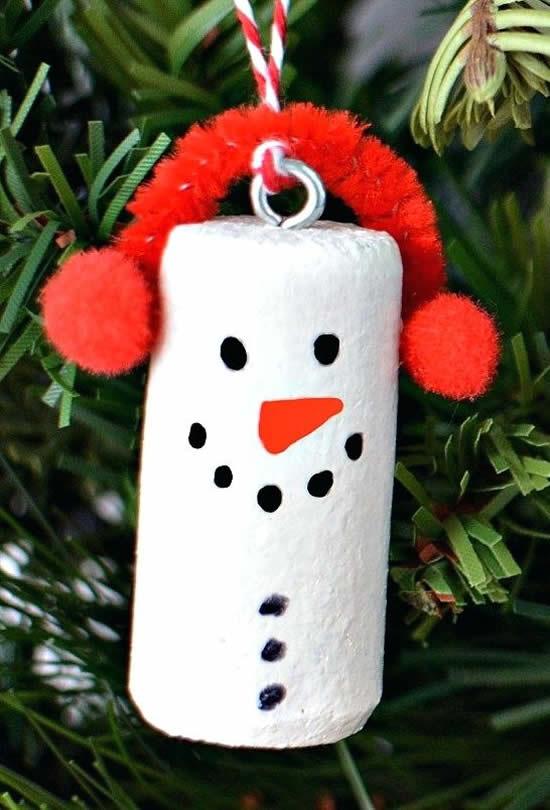 Ideias para Árvore de Natal com rolhas