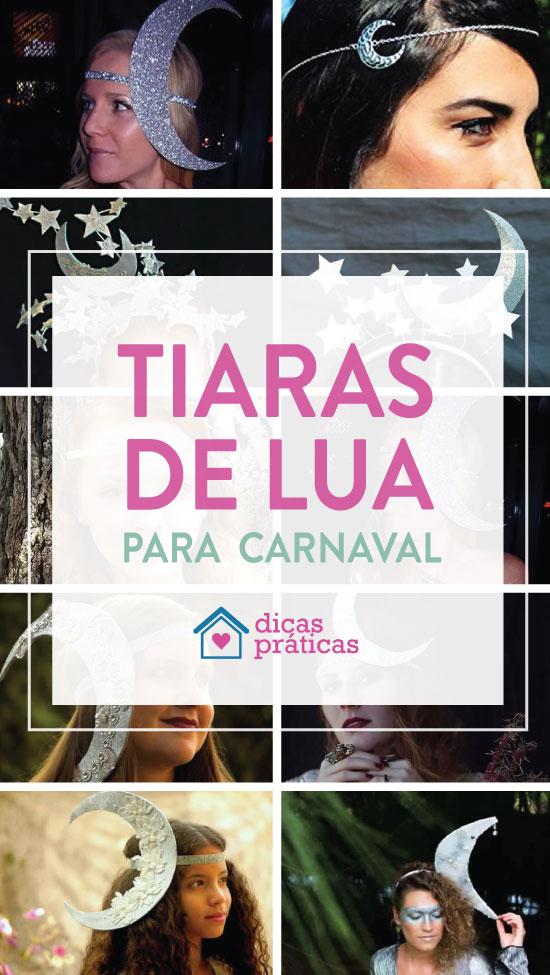Tiara de Lua para Carnaval
