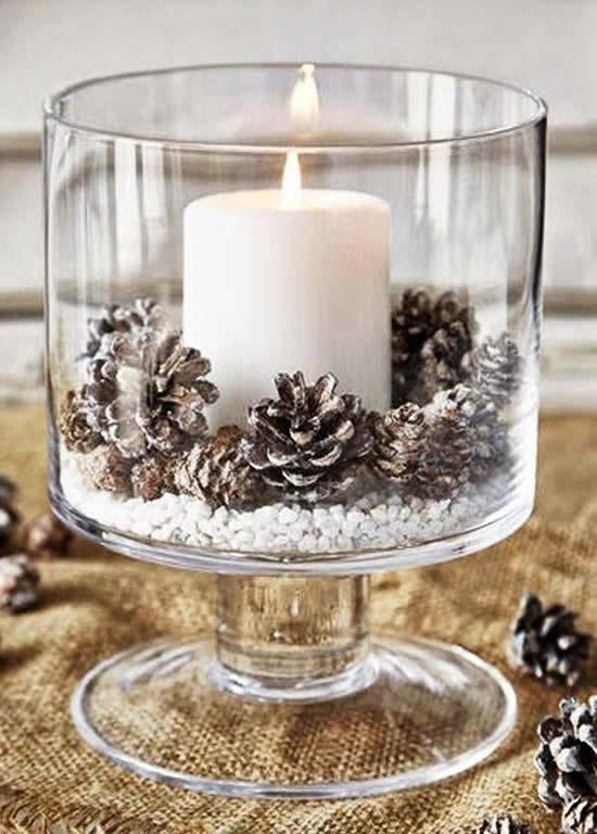 Vela linda para decoração de Natal