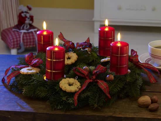 Velas lindas e decoradas para o Natal