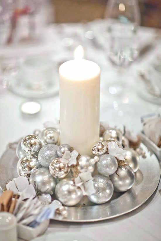 Vela linda decorada para o Natal