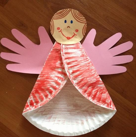 Anjinho com reciclagem para fazer com as crianças