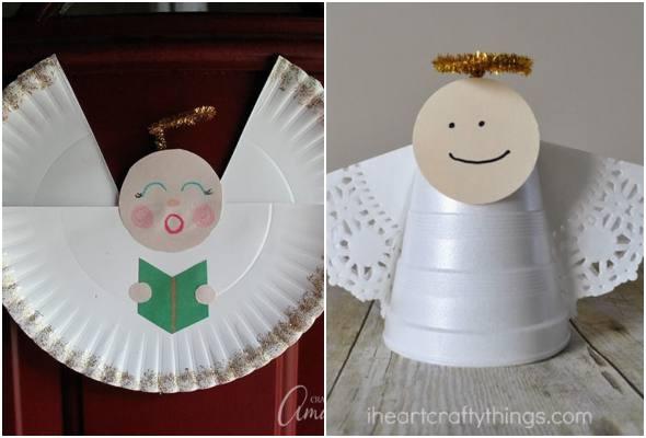 Anjinhos reciclados para o Natal