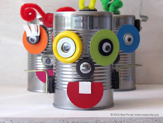 Brinquedo criativo com reciclagem