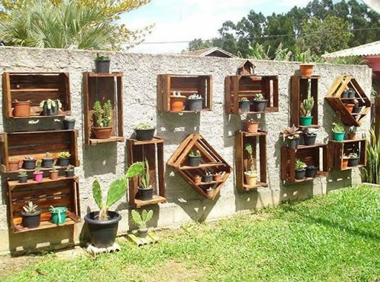 Caixotes de madeira para decoração