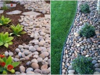 Decoração com seixos para o jardim