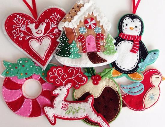 Enfeite de feltro para Natal