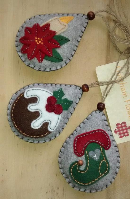 Lindas ideias com feltro para o Natal
