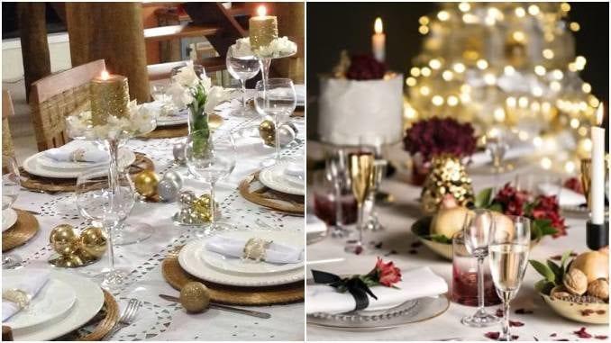Decoração linda para mesa de ano novo