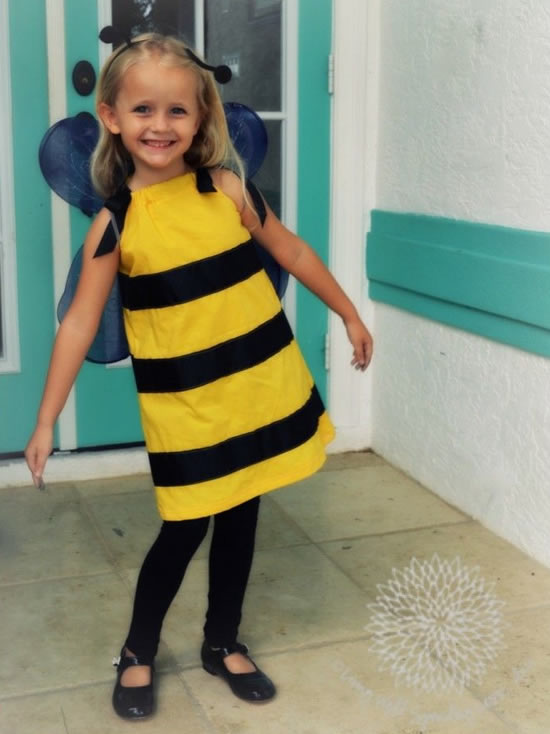 Fantasia infantil de abelha