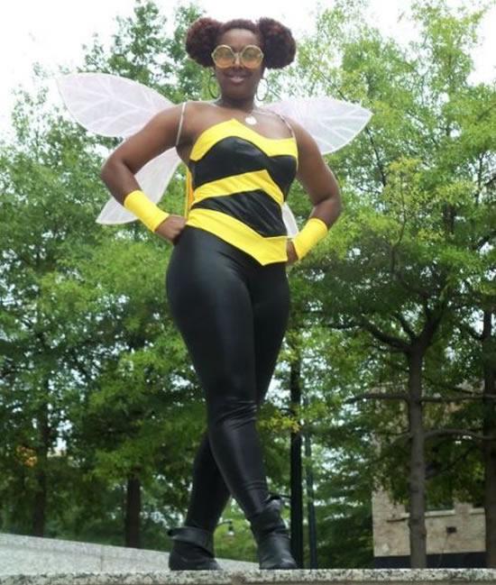 Fantasia linda de abelha